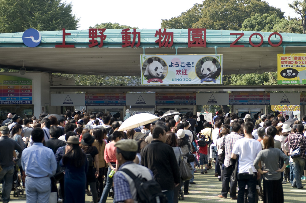 連休最終日の上野公園