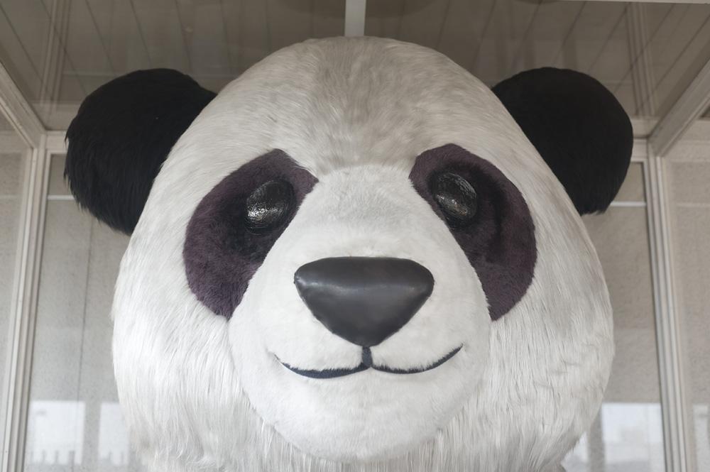 ジャイアントパンダの像
