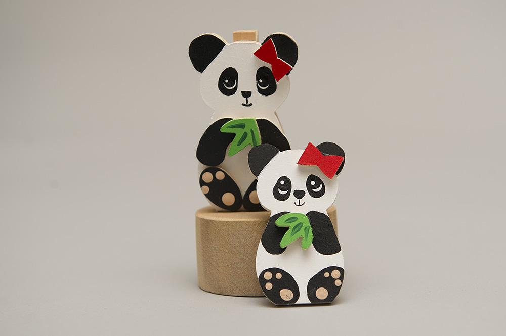 パンダのクリップとマグネット