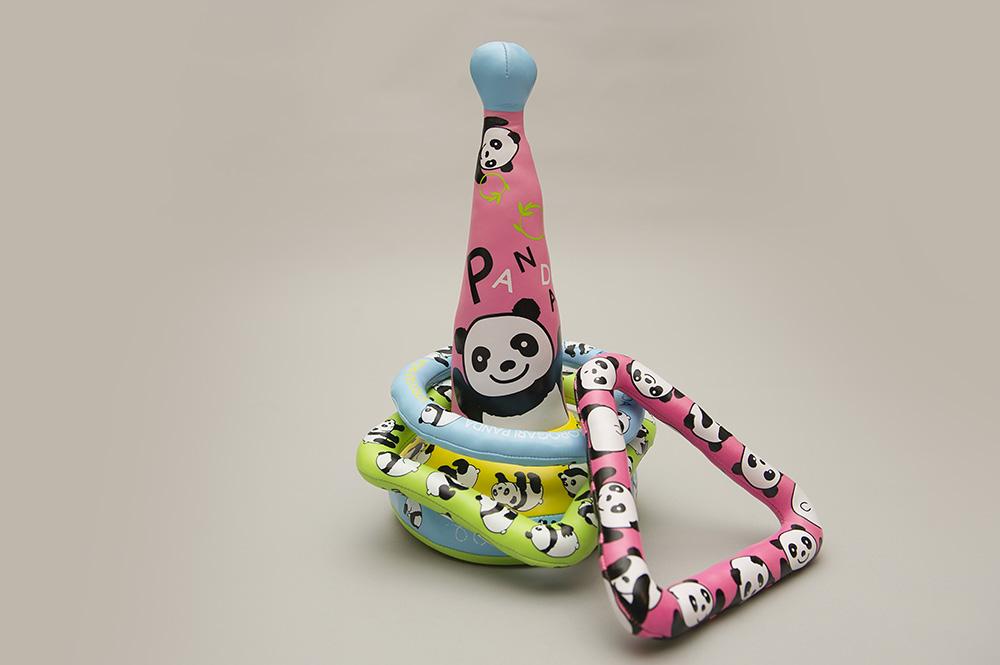 パンダの輪投げ