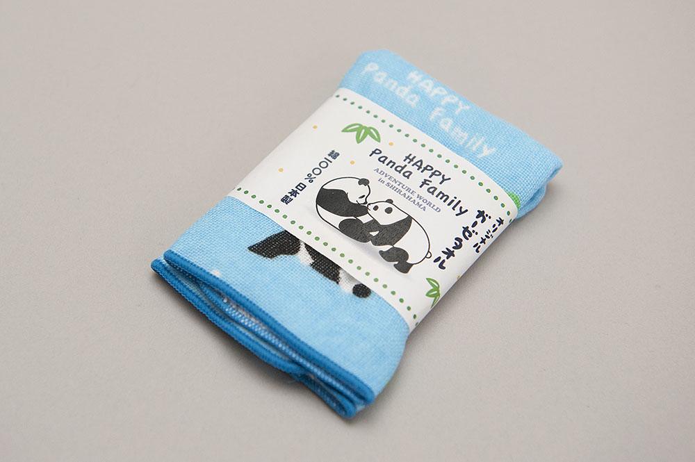アドベンチャーワールド Happy panda family ガーゼタオル